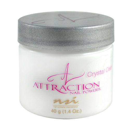 NSI Attraction Acrylic Nail Powder - CRYSTAL CLEAR 40g